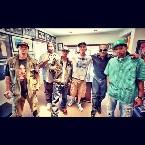 djskee:  All 5 members of Bone Thugs-N-Harmony reunited on air right now w/me on Sirius XM 44 @hiphopnation live from the Skee Lodge now (Taken with Instagram at Skee Lodge)