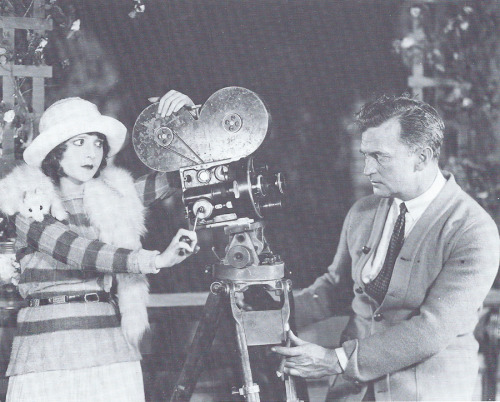 "Happy birthday Madge Bellamy (June 30, 1899 - January 24, 1990), shown here facing off with director Tom Ince  ""…though she did not consider herself a beauty, Penhryn Stanlaws, the artist (and later film director), considered Madge to be the most beautiful young girl he had ever seen. 'If I am beautiful,' she said, 'it was just due to the fact that I thought myself into being beautiful.' This engrossment with beauty did not sit too well with directors who hoped for more human behavior before the cameras. And that is how she won the reputation of being hard to handle. 'You were the hardest dame to handle in all Hollywood,' Harry Carr told her. 'Either you were crying or the director was crying most of the time' (Screen Secrets, May 1929, p. 99). 'It was a matter of upbringing,' Madge explained. 'It is very hard for a girl brought up in the South, as I had been, to be so ordered, to be told to stand up while they looked her over like a horse.' She admitted, too, that she found it hard to let herself go. She was always self-conscious. Yet she screened, as Tom Ince put it, 'like a million dollars.'""  Image and excerpt from A Darling of the Twenties, intro written by Kevin Brownlow."