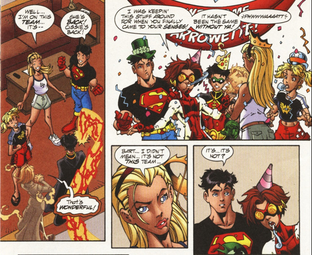 peterrabid:   Young Justice #23  Being friends with Bart means being prepared for sudden parties. Also: