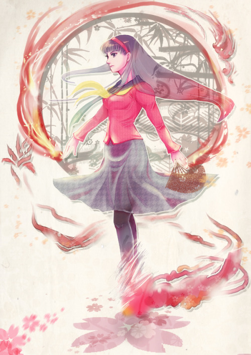she-dreamt-she-was-a-bulldozer:  yukiko by:7つ