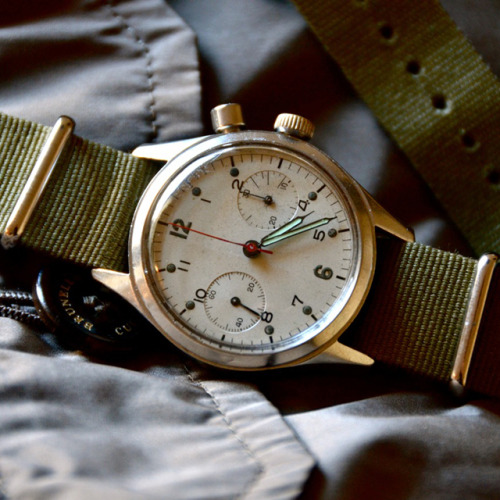 Simple #Breitling #Military Chronograph - #Explore manchannel:  Breitling Military Chronograph