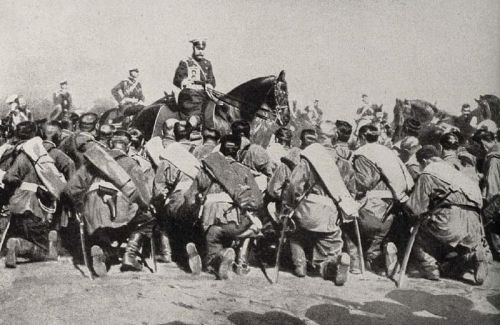 collective-history:  Tsar Nicholas II among his troops during World War I