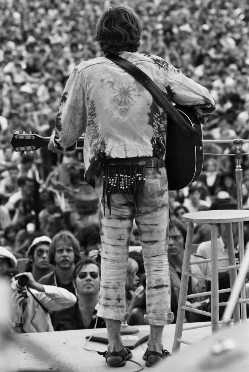 John Sebastian on stage at Woodstock, 1969.