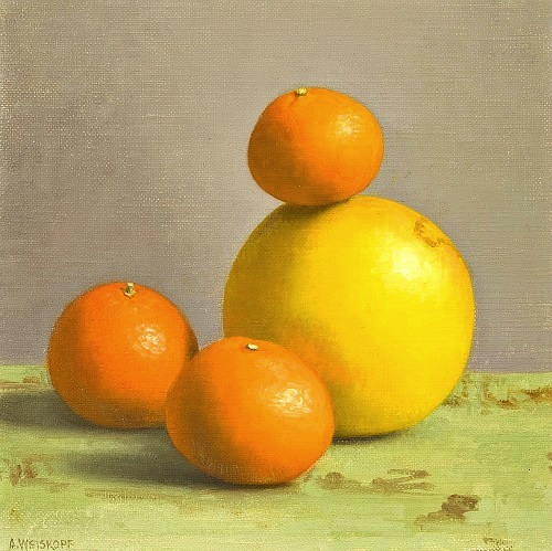 Amy Weiskopf Satsumas and Grapefruit  2012