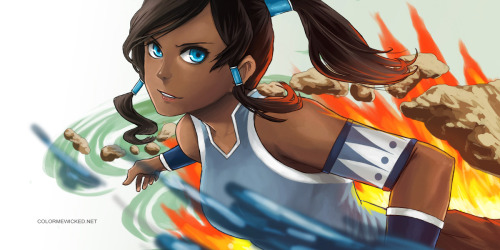 Avatar Korraby *ColorMeWicked So gorgeous. The blue in her eyes is so mesmorizing in the the art.