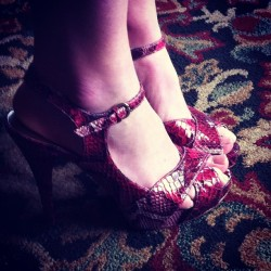 So in love with niece's #shoes. I'd probably break my neck. (Taken with Instagram)