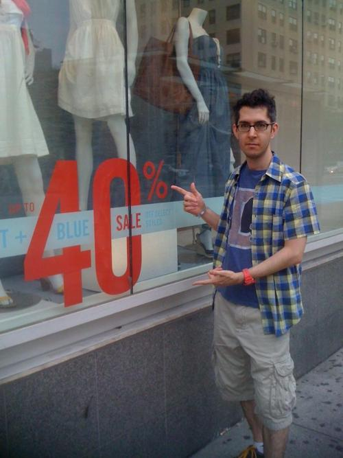 plaiddcm:  DCM14 Illustration 51 - 40% off plaid shirts at the Gap!
