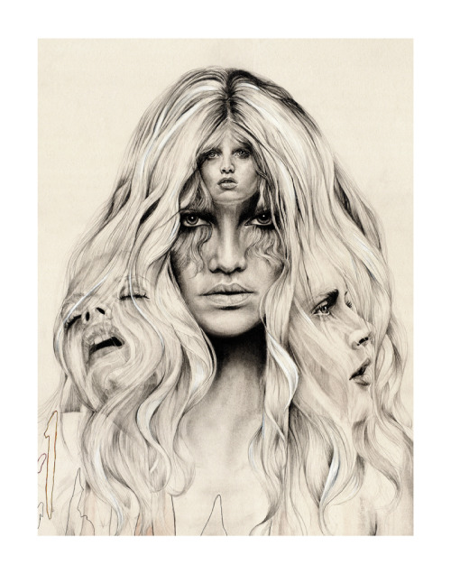 tobacco-and-leather:  Confuse the Spirits #1  Limited edition Giclee Prints  http://www.etsy.com/shop/abbeywatkins