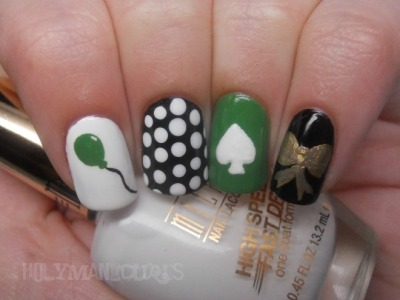 Kate Spade inspired nails