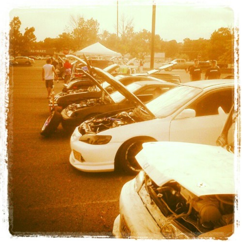 #BuiltToEnvy Car Show 2012.  The #Imports #Honda #Civic #CRX #Tuners (Taken with Instagram)