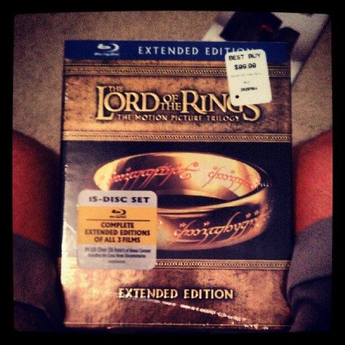 Just got this for $16. #LOTR #extendededitions (Taken with Instagram)