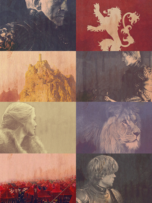 meerareed:  Game of Thrones meme: five houses » House Lannister. [3/5]In a coat of gold, or a coat of red, a lion still has claws.