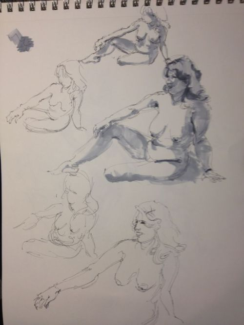 Figure drawings from today's session