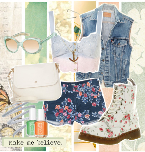 Make me believe. por marciamarquet con essie nailpolishCotton shirt, $52Citizens of Humanity high waisted shorts, $179Dr. Martens platform boots, £100Mulberry leather handbag, £417Coral jewelry, $189Marc jacobs sunglasses, $325Sue Devitt silver eyeliner, $20Essie nail polish, $8Essie nailpolish, $8Floral Wallcovering by Vanessa Arbuthnott | Duck Egg Wallpaper, £42Balloon photo nursery decor teal aqua carnival photography circus…, $30Wallpaper Floral Damask Pale Olive, $4Ferris Wheel Print Carnival Wall Art - Nice Day For A Ride - summer…, $30
