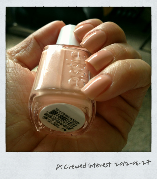 So pretty. Essie 'A Crewed Interest' from the 'Navigate her' collection