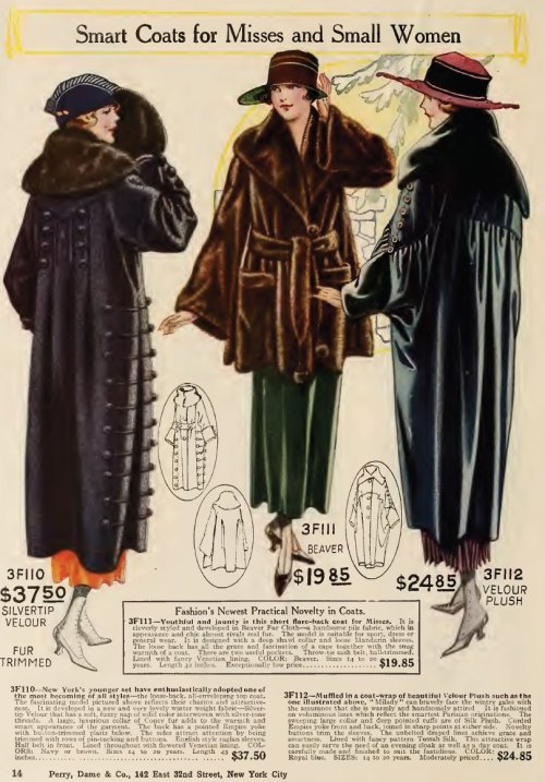 ~ Perry, Dame & Co., Fall and Winter 1919-1920