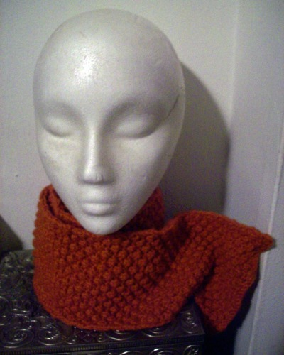 I knitted this raspberry-stitch scarf for one of my friends' birthdays and finally finished it last week - very, very belatedly. It began with the second season of Downtown Abbey at the beginning of the year and ended up being so adorable that I was tempted to keep it for myself. I love the color. Terrible photo, though. I seriously need a camera that is from this decade.