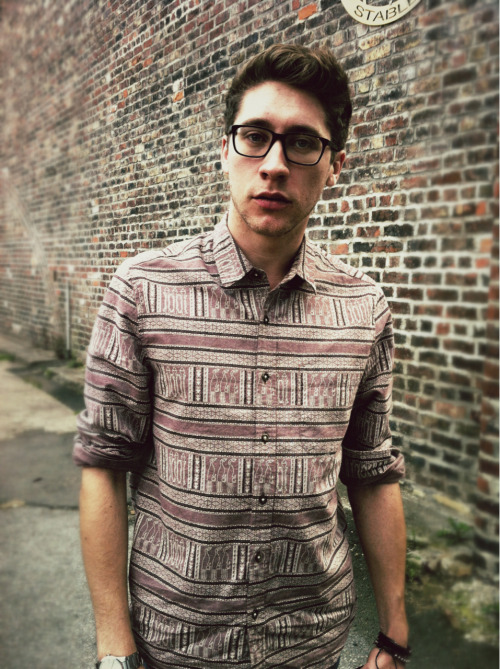 mjsouthward:  Me sporting a new shirt I bought in the topman sale. It's so gosh darn pretty.