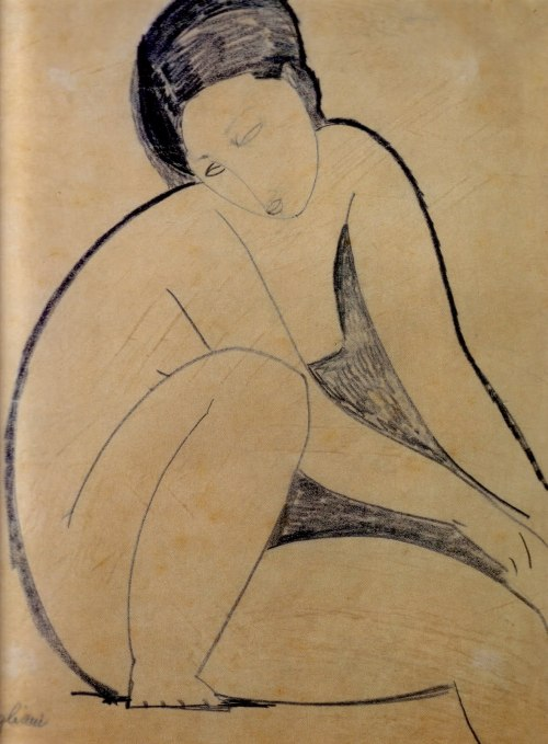frenchtwist:  via akapearlofagirl * fleurs-maladives:  Nu assis, Modigliani 1918