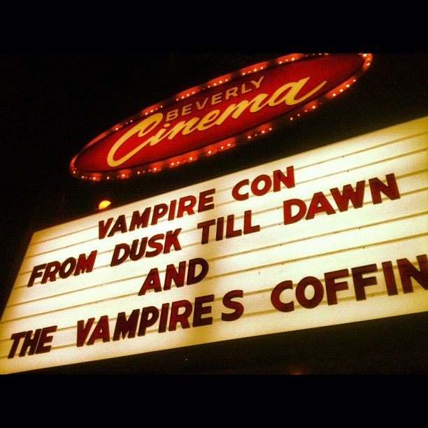 Loco Vampire Double Bill @newbeverly #movie #doublefeature #vampires #LA #theater #Tarantino #lastnight (Taken with Instagram)