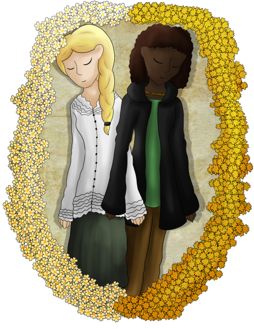 Hunger Games fanart of Primrose and Rue :P Enjoy ^^
