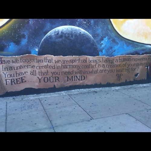 Look what Tia showed me today. #StreetArt. FREE YOUR MIND (Taken with Instagram)