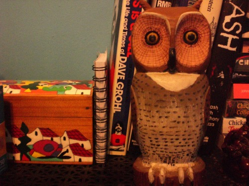 Found this owl figure at Value Village (a thrift store) Paid 2.25 after tax. I love it :3