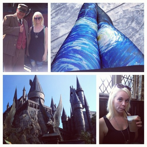 #starrynightlegs by #blackmilk meets #harrypotter at #wwohp. Too many tags? #idgaf (Taken with Instagram)
