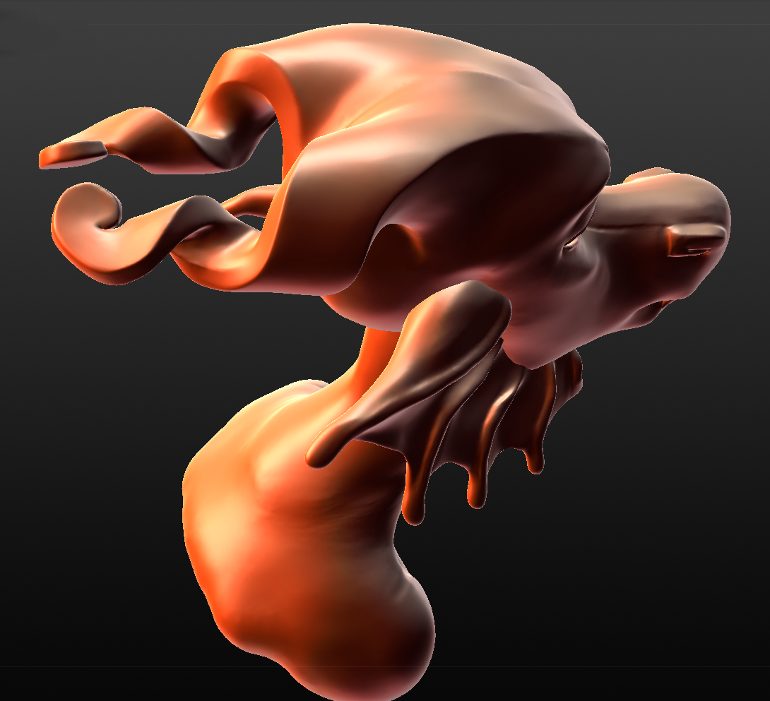 I tweaked this sculpt some more, not that you can tell what the difference is since the other angle wasn't good to show what I did, oops.