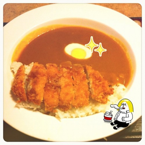 Chicken katsu curry rice 🍛✨ (Taken with Instagram)