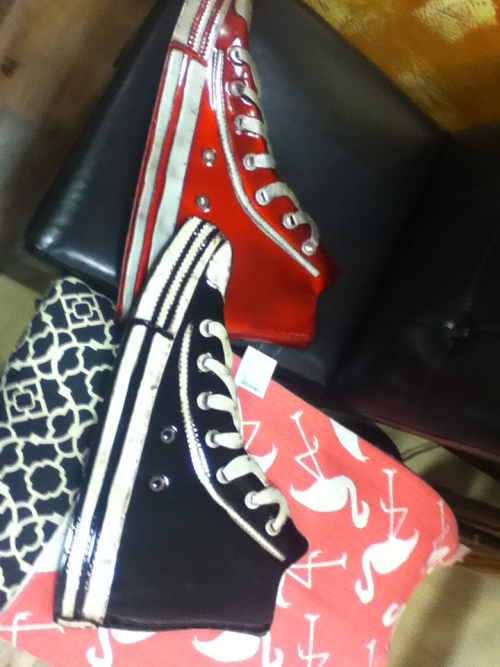 cumberbitchsandwich:  misslovegood7:  Look, Kyna! Converse wall hangings! They are VERY large.  WHERE CAN I PROCURE THESE? I found them at Homegoods! One might have to search a little, however, seeing as I'm in New England…