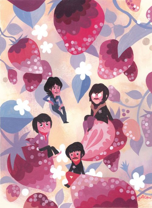 joey chou's contribution to the upcoming beatles tribute show at gallery nucleus