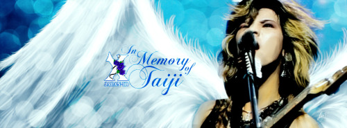 Taiji memorial banner I just made for XJAPAN-ID fb page