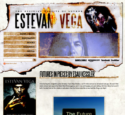 "I guest blogged on Estevan Vega's site (author of ""Arson""http://goo.gl/AN00X) Are you looking for the future? Or has it already arrived? 