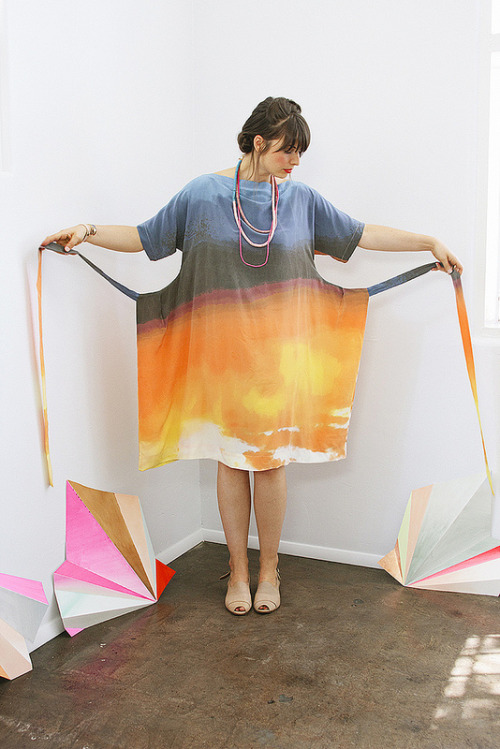 emmacooper:  ERMIE SS 2012 Apron Dress in the Light of California Print