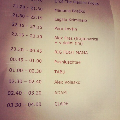 It looks like we start at 5 AM :D #vransko  (Taken with Instagram)