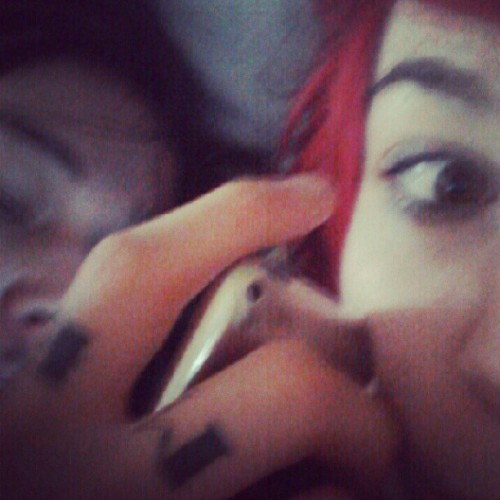 Me and @remenoir in bed both on instagram~ (Taken with Instagram)