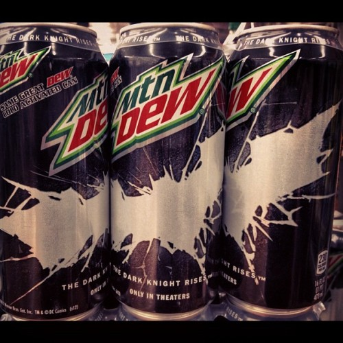 #MountainDew #DarkKnightRises Cans! Cold Activated! #MtnDew #Batman  (Taken with Instagram)