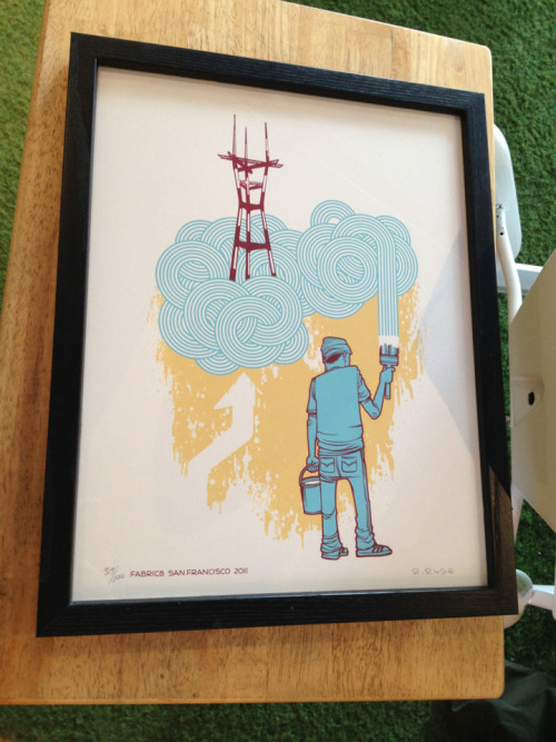 I just bought this Reuben Rude screen print. Fabric8.