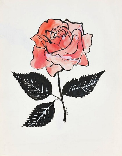 Andy Warhol Untitled (Pink Rose) 1955