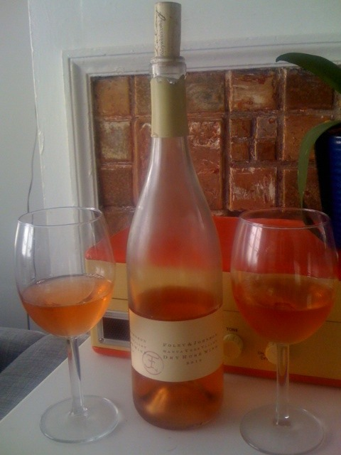 It's a great day for this rosé that we picked up on our trip to Santa Barbara wine country a few weeks back.