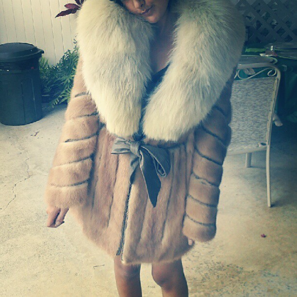 My fur coat :) sorry PETA (Taken with Instagram)