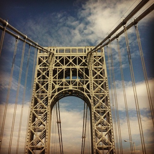 George washington bridge #travel #boston #bound (Taken with Instagram)