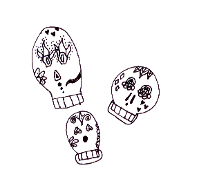 saola:  i love candy skulls. i drew this<3