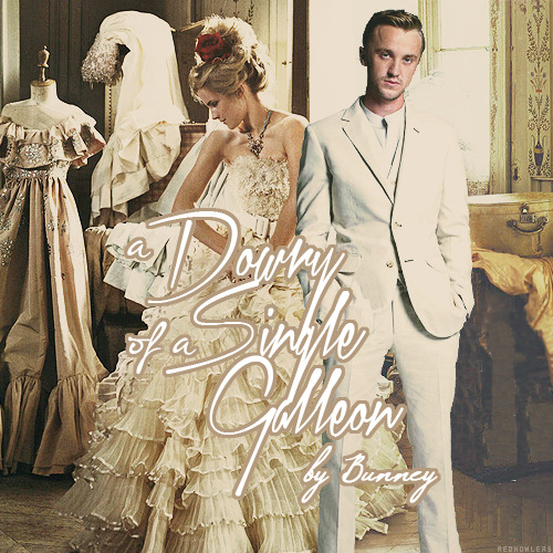 40 Day Dramione Challenge  » Day Three: Favorite Fanfic - A Dowry of a Single Galleon by BunneySummary: A Marriage Law has been enacted by the Ministry and Purebloods are being forced to choose a Muggleborn spouse. After an untimely meeting in Diagon Alley, Draco Malfoy sets his sights on Hermione Granger.