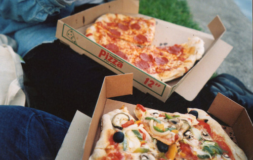 redskytonight:  pizza by rosielord on Flickr.
