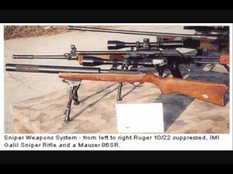 "It boggles my mind hearing the word Sniper followed by Ruger 10/22(I have one, I love it, but no it's a .22 not a ""sniper rifle"") and then Galil(most of the Galils are chambered in intermediate cartridges, rather than the full powered rifle cartridges that work well for long range engagements. However this would be acceptable if it was one of the Galils chambered in 7.62NATO, I say acceptable because even a Galil chambered in a decently powered round is not really ideal for this sort of thing)"