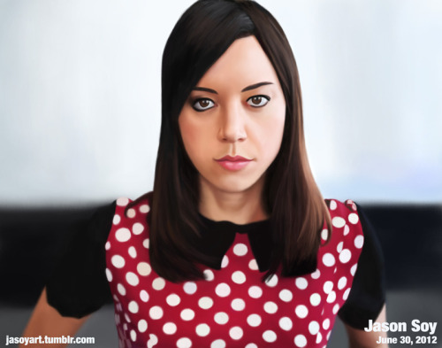 Aubrey Plaza - One of my heroes. Painted on a whim.