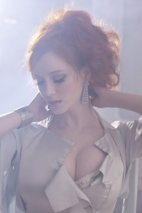 "bohemea:  Christina Hendricks - Vivienne Westwood ""Get A Life"" Palladium Jewelry Collection by Greg Williams, 2011"