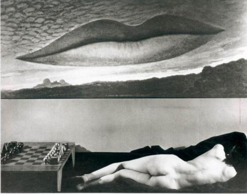 Observatory Time - The Lovers by Man Ray, 1934